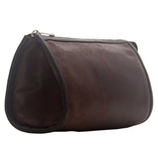 Piel Leather Vintage Tear-Drop Cosmetic Bag