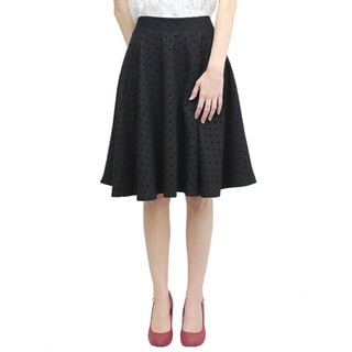 Relished Women's Contemporary Black Swing Skirt