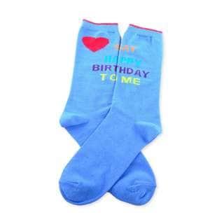 TeeHee Birthday Theme Fashionable Cotton Crew Socks