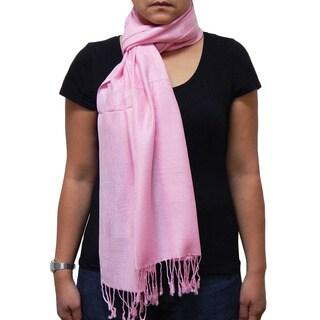Vecceli Italy Pink Silky Blend Pashmina Scarf