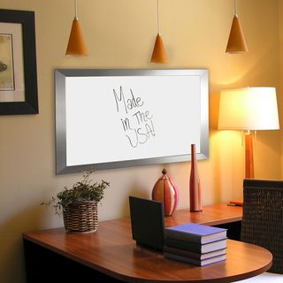 American Made Rayne Silver Wide Dry Erase Board