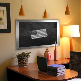 American Made Rayne Silver Wide Blackboard/Chalkboard (More options available)