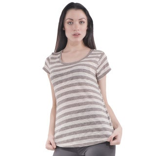 Women's Scoop Short Sleeve Stripe T-Shirt (4 options available)