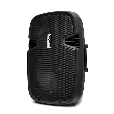 Pyle PPHP122BMU 12-inch 800-watt Portable USB/ SD/ Bluetooth PA Loudspeaker Speaker System with Guitar and Mic Inputs - Black