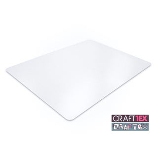 "CraftTex Ultimate Craft Table Protector Mat Super-Strong Clear Polycarbonate Size 35"" x 71"""