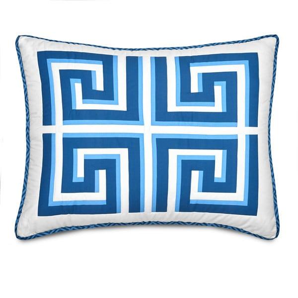Jill Rosenwald Greek Key Sham