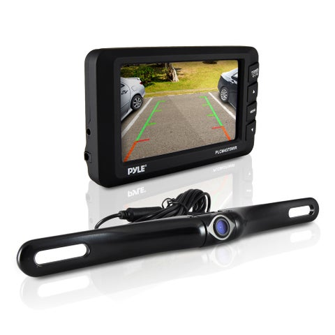 Pyle PLCM4375WIR Rear View Back-up Camera and Parking/ Reverse Assist System with 4.3-inch Display