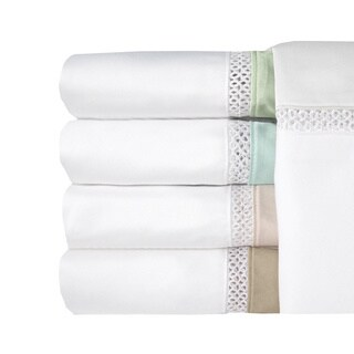 Grand Luxe Egyptian Cotton Duetta 300 Thread Count Pillowcases (Set of 2)