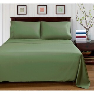Superior 300 Thread Count Percale Cotton Solid Pillowcases (Set of 2)