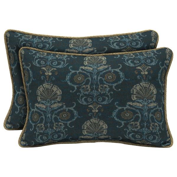 Bombay Outdoors Anatolia Blue/Kenya Reversible Outdoor Lumbar Pillows (Set of 2)