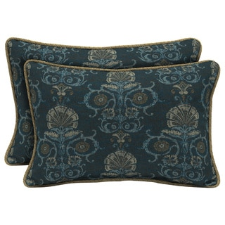 Bombay Outdoors Anatolia Blue/Kenya Reversible Outdoor Lumbar Pillows (Set of 2)
