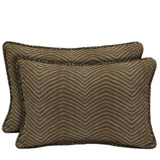 Bombay Outdoors Zebra Reversible Outdoor Lumbar Pillows (Set of 2)