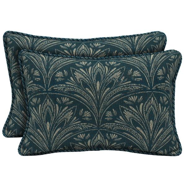 Bombay Outdoors Royal Zanzibar Reversible Outdoor Lumbar Pillows (Set of 2)