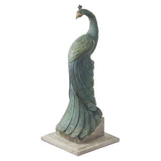 Bombay Outdoors Royal Peacock Statuary