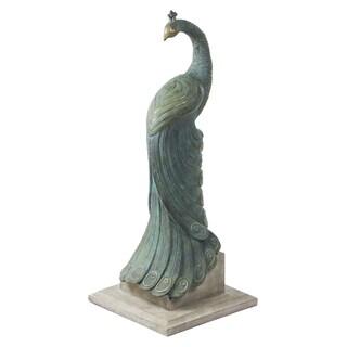 Bombay Outdoors Royal Peacock Statuary