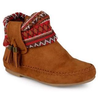 Journee Kid's 'Elise' Tasseled Microsuede Boots