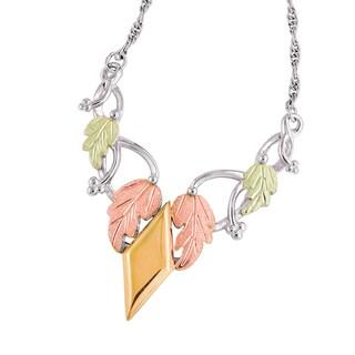 Vinya 12k Tri-color Leaf Necklace