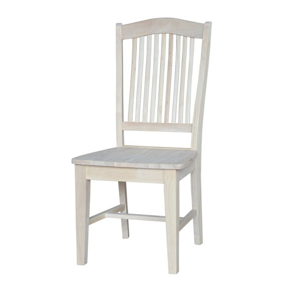 unfinished wood dining chairs ladder back international concepts stafford unfinished wooden dining chairs set of 2 shop