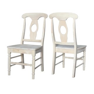 International Concepts Empire Dining Chairs with Solid Wood Seat (Set of 2)