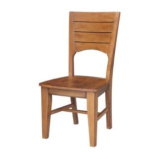 Link to International Concepts Canyon Wooden Pecan Dining Chairs (Set of 2) Similar Items in Dining Room & Bar Furniture