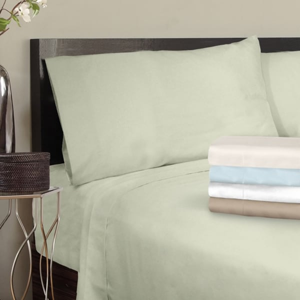 Grand Luxe Egyptian Cotton Sateen 300 Thread Count Solid Pillowcases (Set of 2)