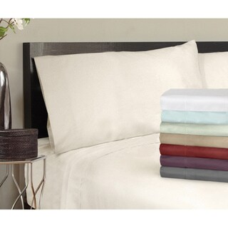 Grand Luxe Egyptian Cotton Sateen 500 Thread Solid Pillowcases (Set of 2) (Option: Standard - Ivory)