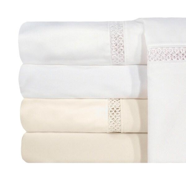 Grand Luxe Egyptian Cotton Payton 1200 Thread Count Pillowcases (Set of 2)