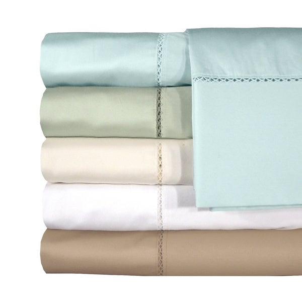 Grand Luxe Egyptian Cotton Bellisimo 300 Thread Count Pillowcases (Set of 2)