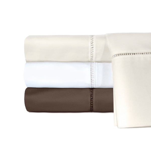 Grand Luxe Linford Embroidered 800 Thread Count Egyptian Cotton Pillowcases (Set of 2)