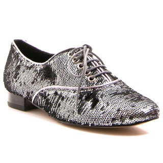 Envy Women's Shoe Salsa Pointed Toe Sequined Oxford Flat