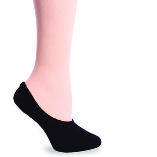 TeeHee Women's Hidden Cotton Liner Sock - Black Size 9-11