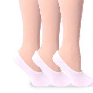 TeeHee Women's Hidden Cotton Liner Sock - White Size 9-11