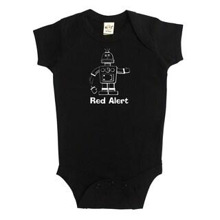 Rocket Bug Robot 'Red Alert' Baby Bodysuit