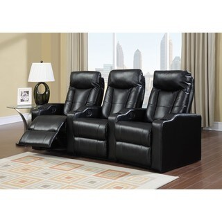 LYKE Home Cabernet Black Bonded Theater Set