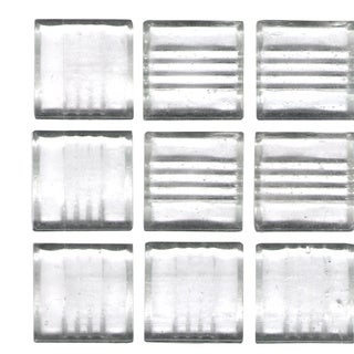Brio Clear White 3/4 inch Glass Tile