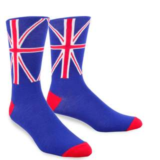 TeeHee British Flag Mens Cotton Crew Socks