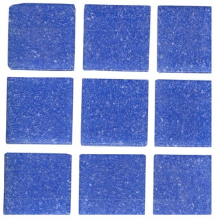 Solid Cornflower Blue Brio 3/4-inch Mosaic Tile