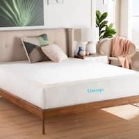 Linenspa Essentials 2 Inch SupportRight™ Foam Mattress Topper - White