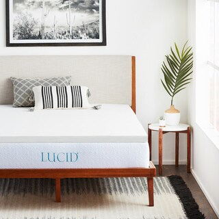 LUCID Comfort Collection 2-inch Supportive Foam Mattress Topper