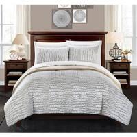 Chic Home Caimani Beige Faux Fur Queen 7-piece Comforter Set