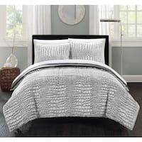 Chic Home Caimani Grey Faux Fur Queen 7-piece Comforter Set
