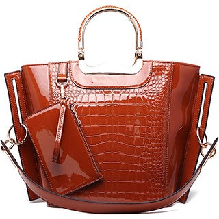 MKF Collection Tressa Croco-Embossed Shoulder Tote with Removable Strap