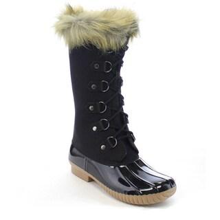 Beston Da62 Women's Two Tone Lace Up Duck Boots