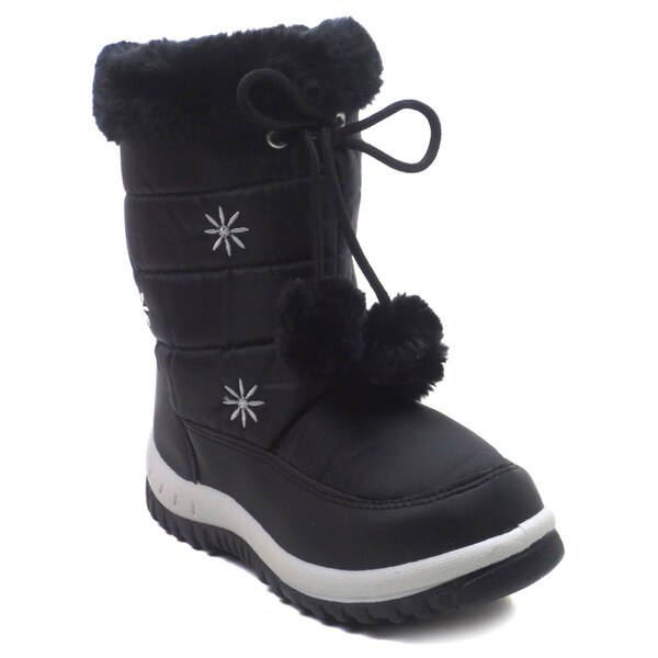 Blue Children's IK Snowfur Winter and Snow Mid Calf Boots