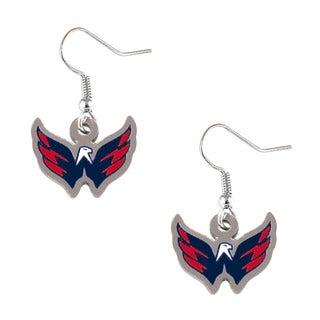 Washington Capitals NHL Logo Dangle Earrings