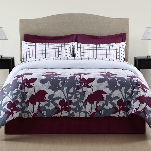 Vanessa Floral 8-piece Bed in a Bag with Sheet Set