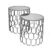 Three Hands Set Of Two Accent Table