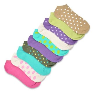 TeeHee Women's Valued 9+1 Pack Fashion No Show Cotton Socks