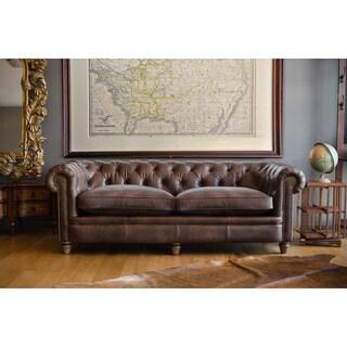 Abraham Leather Junior Grand Sofa