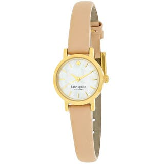 Kate Spade Women's 1YRU0372 Tiny Metro Round Beige Leather Strap Watch|https://ak1.ostkcdn.com/images/products/10887973/P17923085.jpg?impolicy=medium